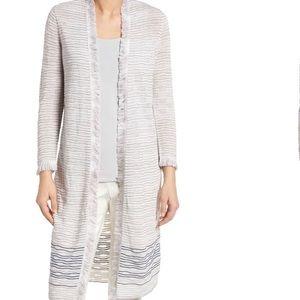 Nic + Zoe Jacquard Knit Stripe Cardigan, Medium.